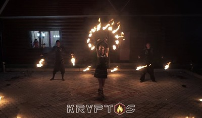 Огненное шоу KRYPTOS - ресторан Кумир (г.Родники)